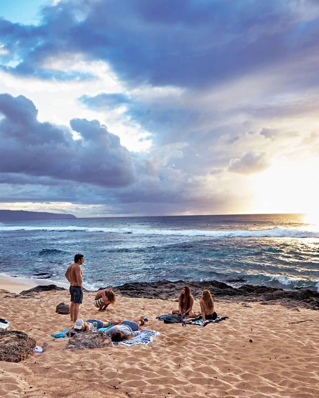 Hawaii Reistipps: Sonnenuntergang am Strand