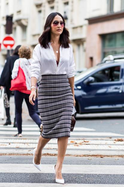 Sommer-Streetstyles: Luftiges Business-Outfit