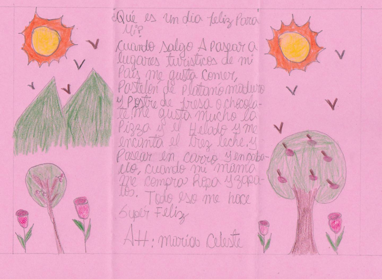 Brief von Celeste aus Dominikanischer Republik