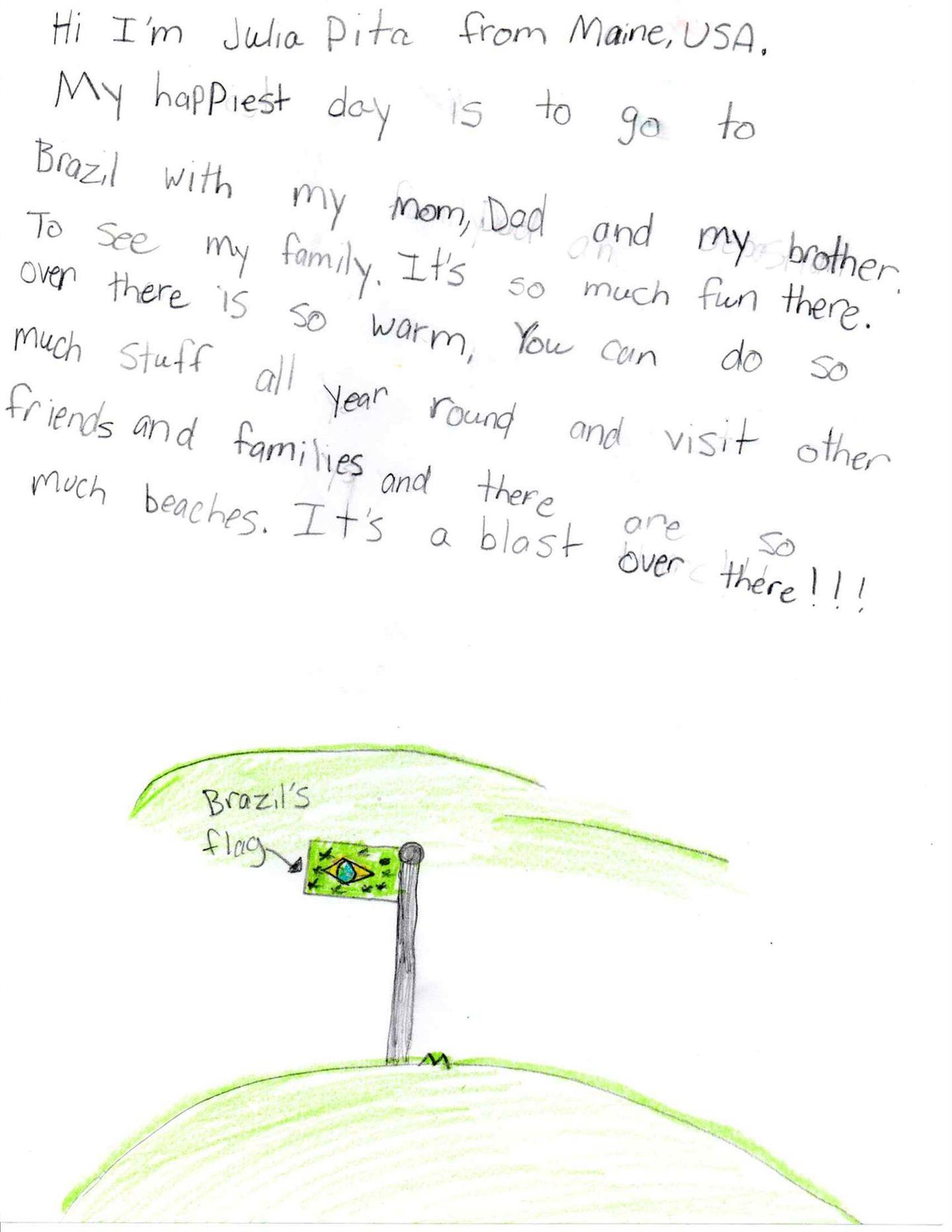 Brief von Julia aus den USA