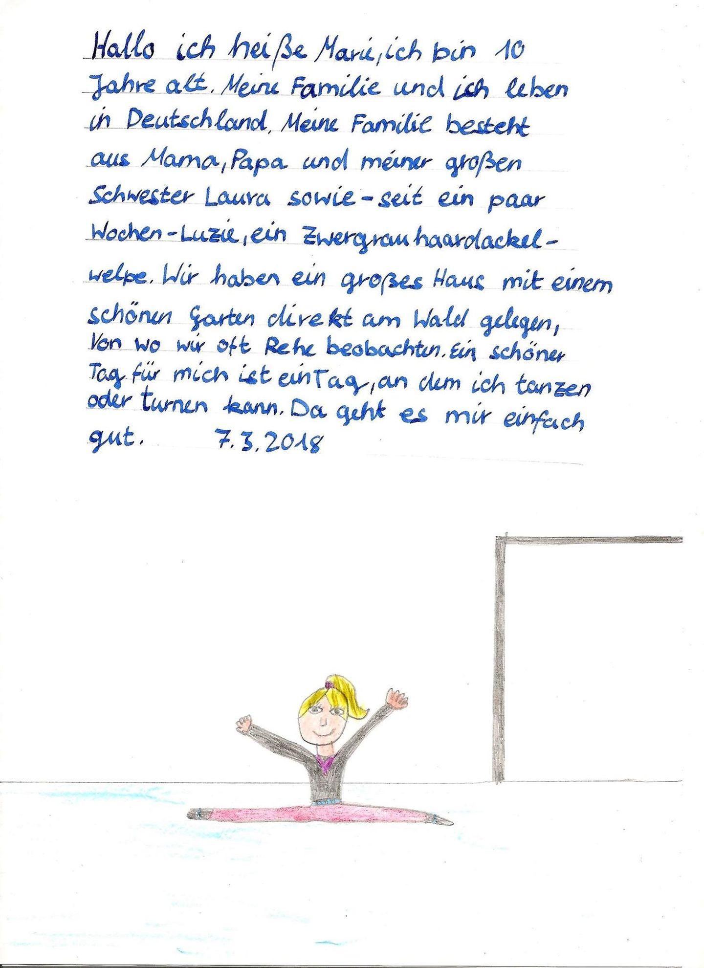 Brief von Marie aus Deutschland
