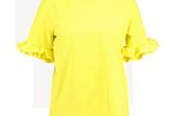 T-Shirt mit Volant-Ärmeln von Norr in Gelb