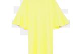 Kleid mit Volantärmeln von Zara in Gelb