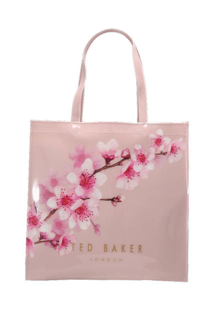 Ted Baker Large Icon Bag mit Blumenmuster in Rosa