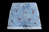 Jeans-Shorts mit Cherry Print von Even&Odd