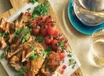 Lamm-Schawarma mit Baba Ghanoush Auberginenpaste