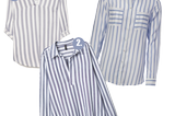 Meghan Markle Wimbledon-Look: Blaue Bluse mit Streifen