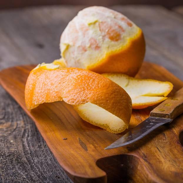 Orangenreiniger: Orangenschalen für Orangenreiniger