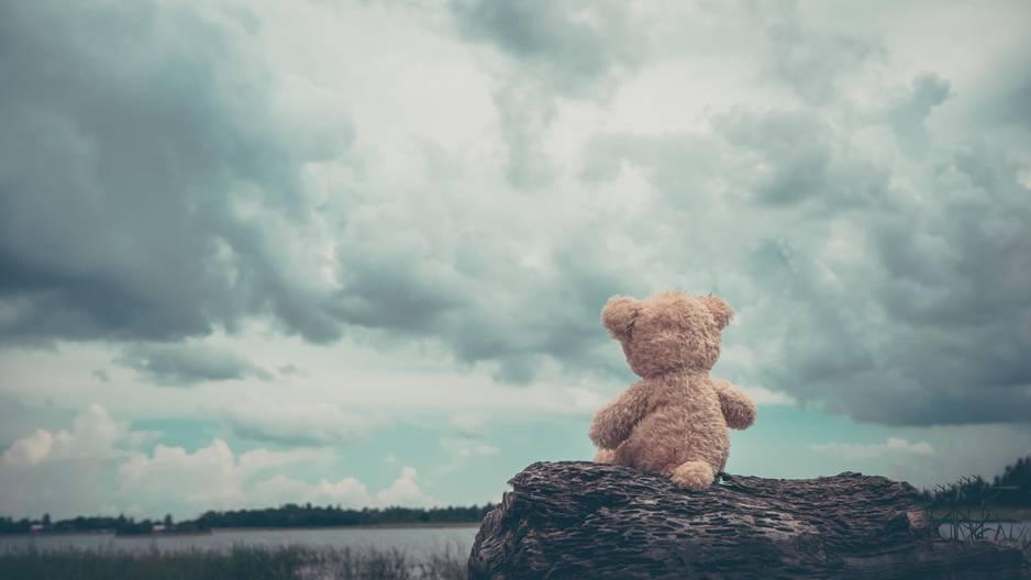 5 Maßnahmen gegen Einsamkeit: Ein einsamer Teddy am Meer