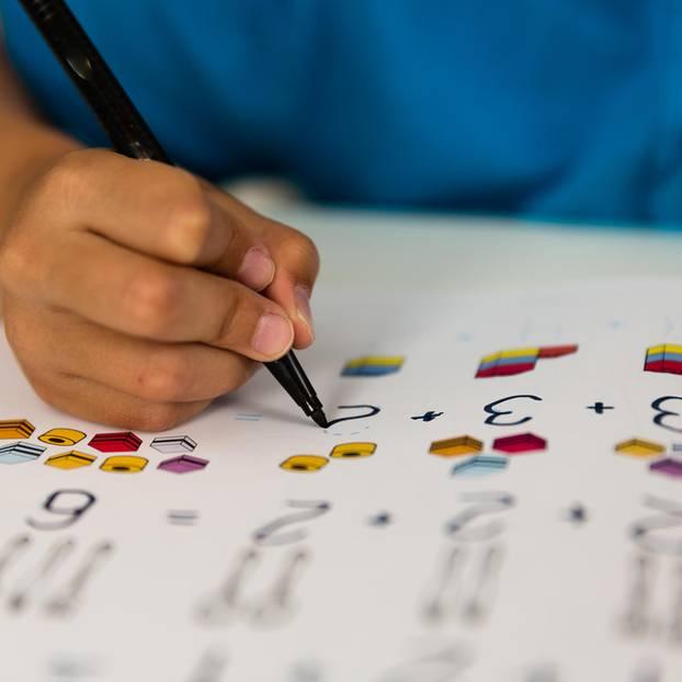 Studie: Schüler füllt Fragebogen aus
