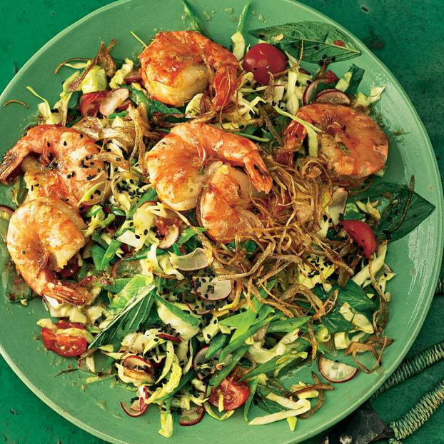 Thai-Gemüsesalat mit Garnelen