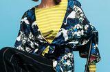 Jacke im Japanstil zum Wenden mit roséfarbenem Innenfutter: Mrs. & Hugs, ca. 100 Euro. Ringelshirt aus Baumwolle und Leinenhose: beides Gudrun Sjödén, ca. 44 und 114 Euro