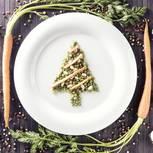 Veganes Weihnachtsmenü: Gemüse aus einem Teller