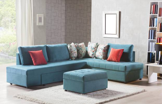 Wie finde ich das richtige Sofa? Blaues Sofa