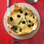Zwiebelkuchen mit Oliven