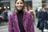 Streetstyle mit Tweed-Jacke