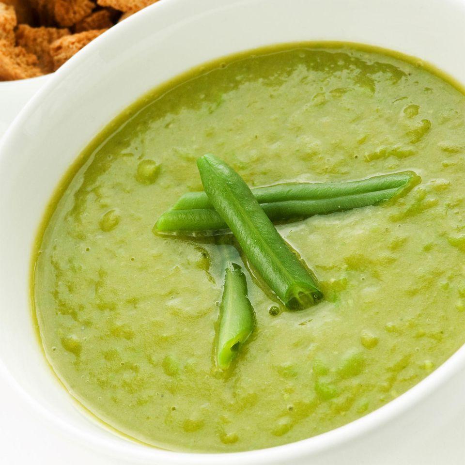 Grüne Bohnensuppe im Slowcooker