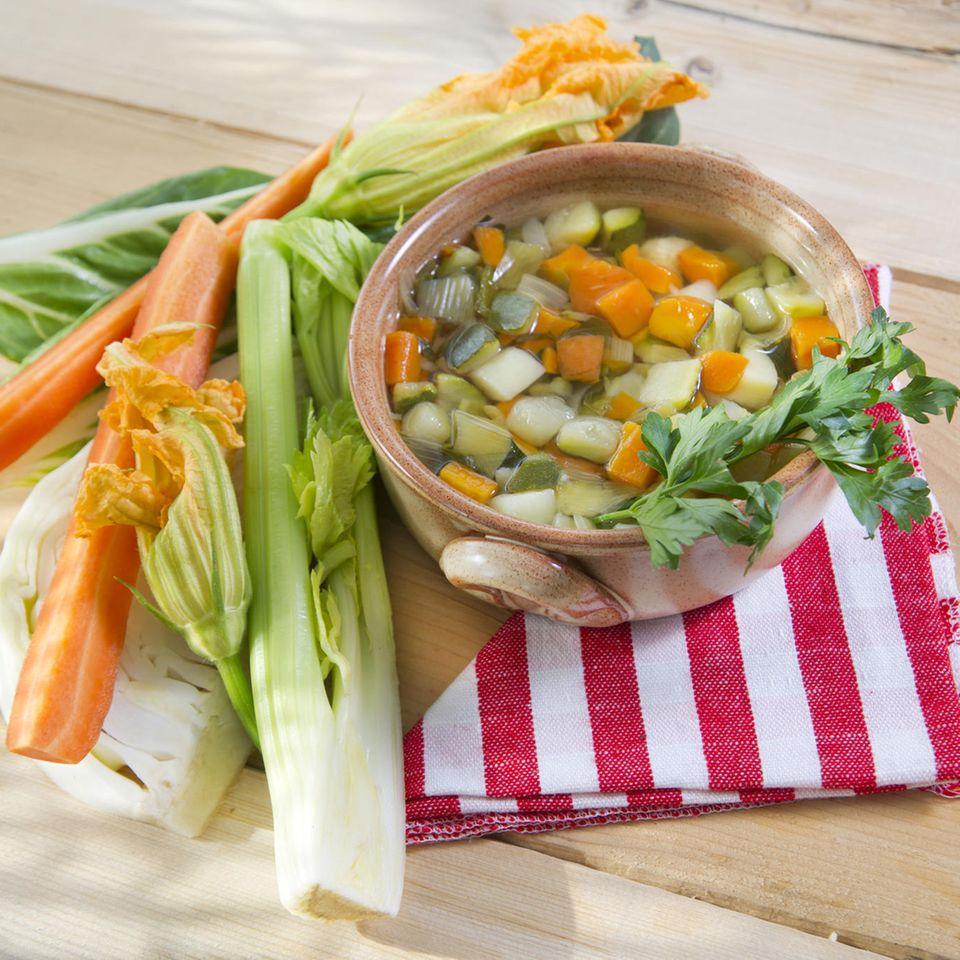 Karotten-Lauch-Suppe