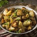 Kartoffel-Artischocken-Pfanne mit Olivenpaste