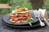 Offene Oliven-Tomaten-Lasagne