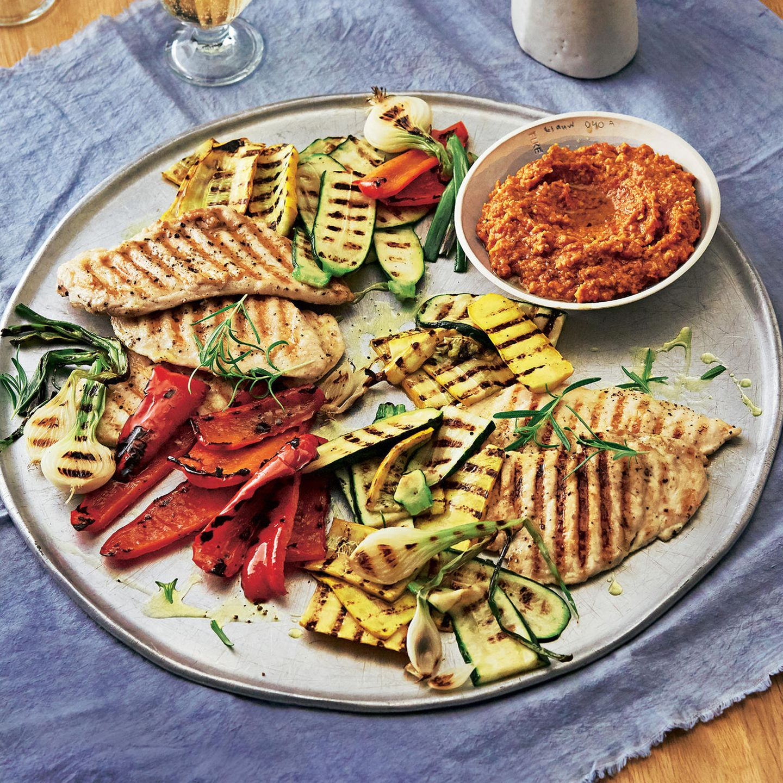 Gegrilltes Gemüse Und Hähnchen Brigitte De