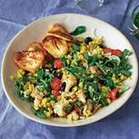Hirsesalat mit Halloumi und Salsa verde
