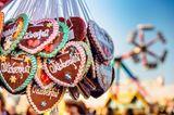 Herbst-Ideen: Lebkuchenherzen auf dem Münchener Oktoberfest