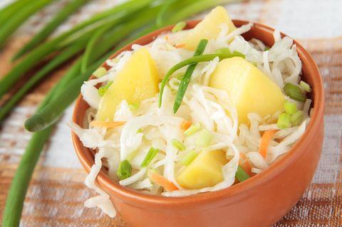 Leichter Sauerkraut-Kartoffel-Topf