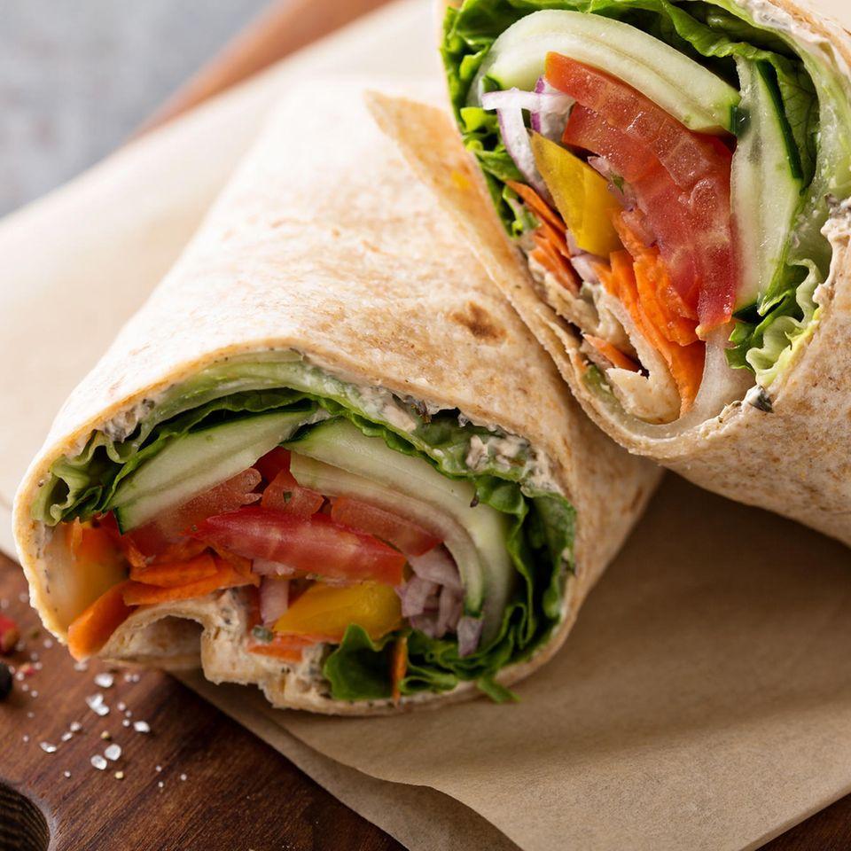 Wraps mit Quinoa und Gemüse