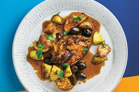 Hühnchen mit Oliven und Portwein