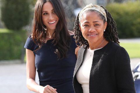 Meghan Markle mit ihrer Mutter Doria Ragland in London