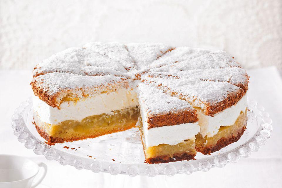 Stachelbeer-Kokosmakronen-Torte