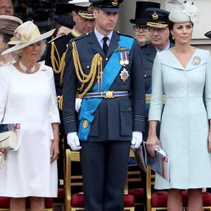 Herzogin Camilla, Prinz William und Herzogin Kate bei einem offiziellen Termin
