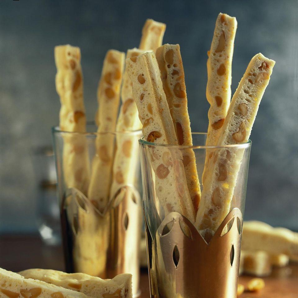 Erdnuss-Ingwer-Biscotti