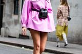 London Fashion Week: Streetstyle Trendfarbe Pink