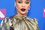 Herbst-Make-up: Jasmine Sanders mit dunkelroten Lippen