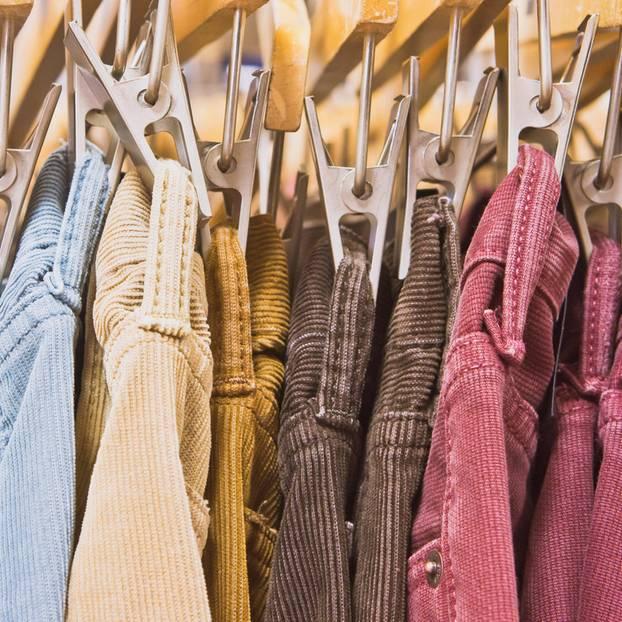 Cord ist zurück: Cord-Mode an Wäscheklammern