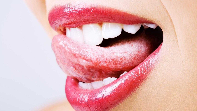 Zungenbelag grauer Belegte Zunge