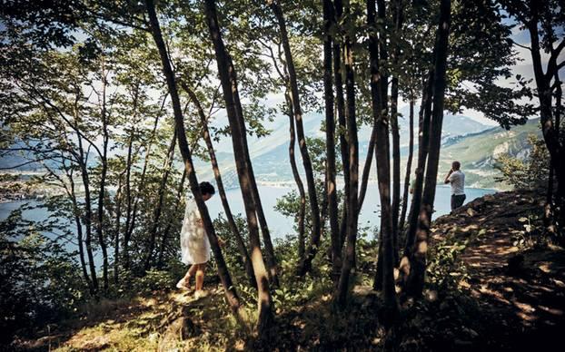 Gardasee: Menschen bei Pregasina