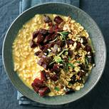 Rote-Bete-Haselnuss-Risotto