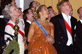 Royals: König Willem-Alexander und Königin Maxima der Niederlande bei einem Ball