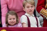 Royals: Prinz George und Prinzessin Charlotte bei Trooping The Colour