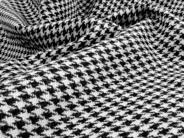 Hahnentritt: Das Muster in schwarz-weiß