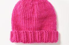 Mütze mit Bund in Pink