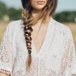 Pinterest: Frau mit Zopf
