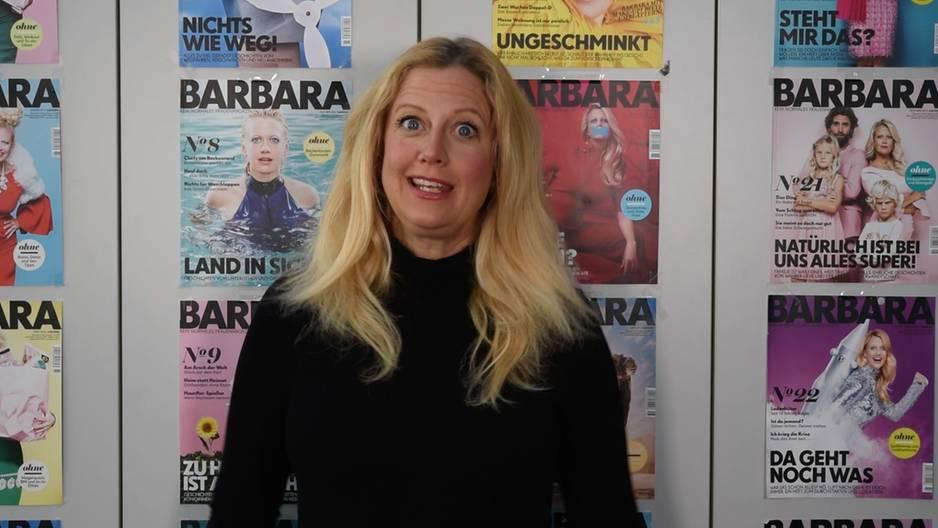 Barbara über Glitzerschuhe
