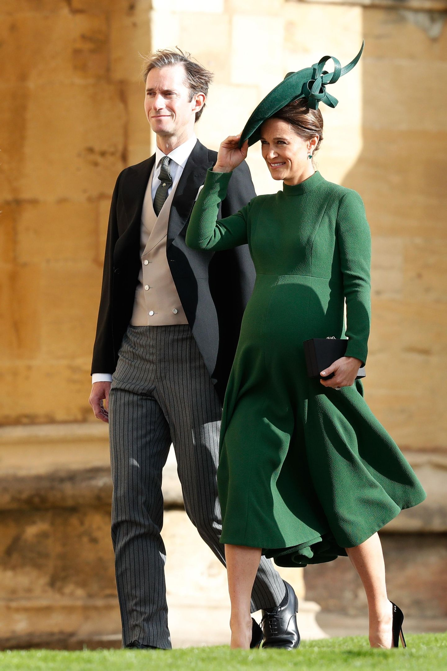 Prinzessin Eugenie heiratet: Die hochschwangere Pippa Middleton und ihr Ehemann James Matthews