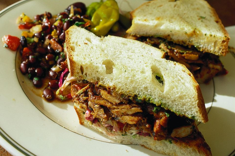 Schweinebraten-Sandwich