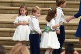 George und Charlotte sind schon echte Hochzeits-Profis