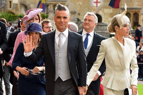 Eugenie-Hochzeit: Robbie Williams mit Ayda Fields auf dem Weg zu Eugenies Hochzeit